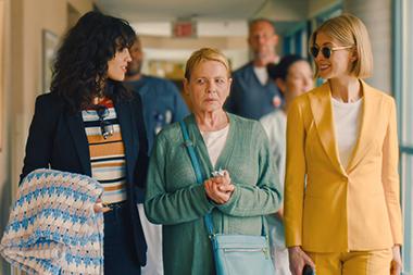 Eiza Gonzalez, Dianne Wiest and Rosamund Pike in a scene from