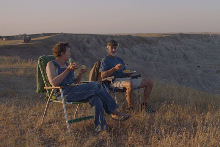 Frances McDormand and David Strathairn in a scene from