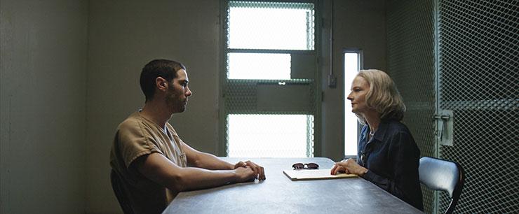 "Tahar Rahim as Mohamedou Ould Slahi and Jodie Foster as Nancy Hollander in ""The Mauritanian."" Photo courtesy Graham Bartholomew/STX Films."
