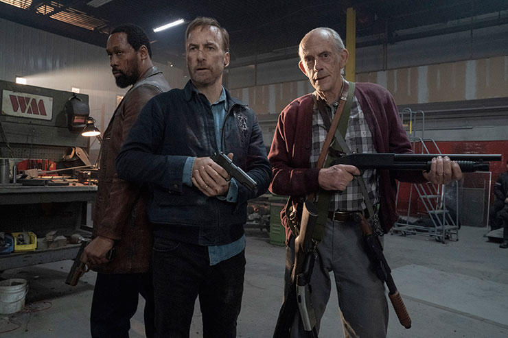 Harry Mansell (RZA), Hutch Mansell (Bob Odenkirk) and David Mansell (Christopher Lloyd) in