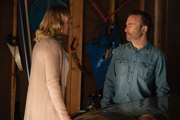 Becca Mansell (Connie Nielsen) and Bob Odenkirk as Hutch Mansell in