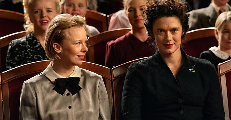 Alma Pöysti and Krista Kosonen in a scene from