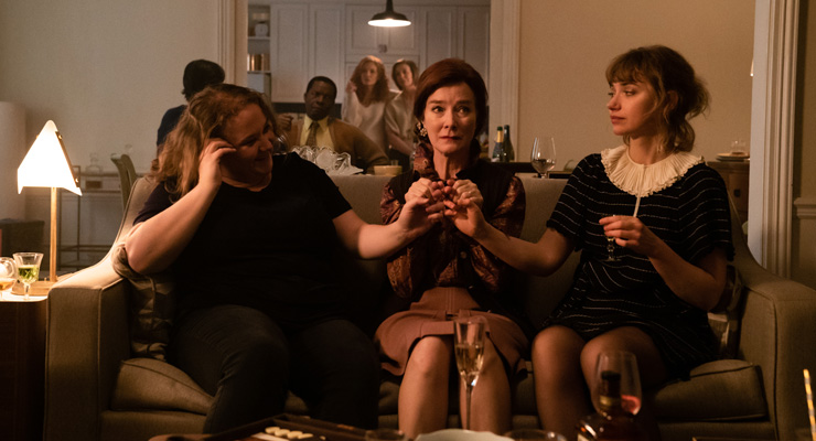 (Front): Danielle Macdonald as Madeleine, Valerie Mahaffey as Mme Reynard and Imogen Poots as Susan. | (Middle): Daniel Di Tomasso as Tom and Isaach de Bankolé as Julius. | (Back): Michelle Pfeiffer as Frances Price and Susan Coyne as Joan in