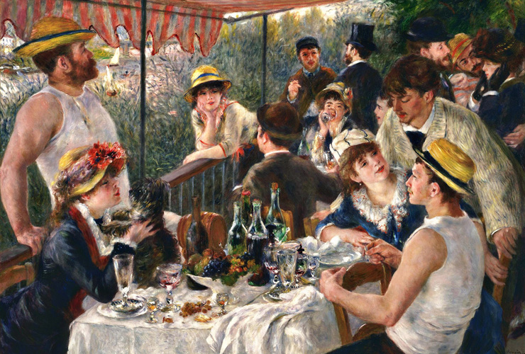 Luncheon of the Boating Party by Renoir - Lasting Impressions 3D - Photo courtesy of Princeton Entertainment Group.