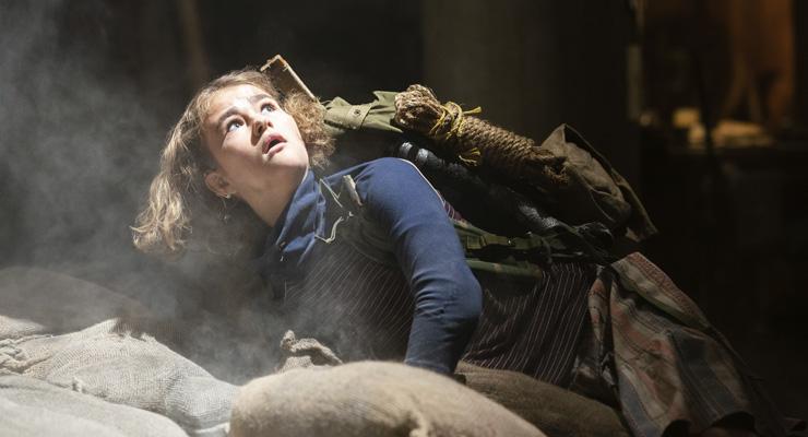 Millicent Simmonds as Regan Abbott in a scene from