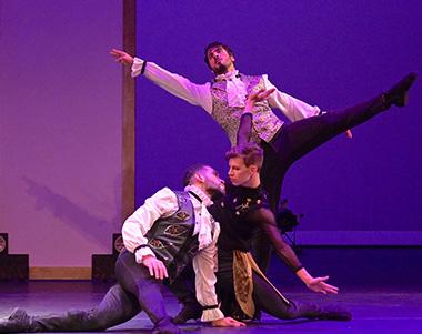 Dance Now! Miami's Dorian's Reflection. From left, Anthony Velazquez, David Harris, and Joshua Rosado (Photo credit: Simon Soong)