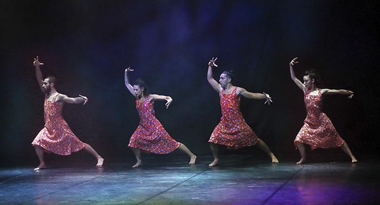 Dance Now! Miami Opus Ballet, Caravan. From left, Lorenzo Di Rocco, Giulia Orlando, Riccardo Papa, and Jennifer Lavinia Rosati (Photo credit: Dance Now! Miami)