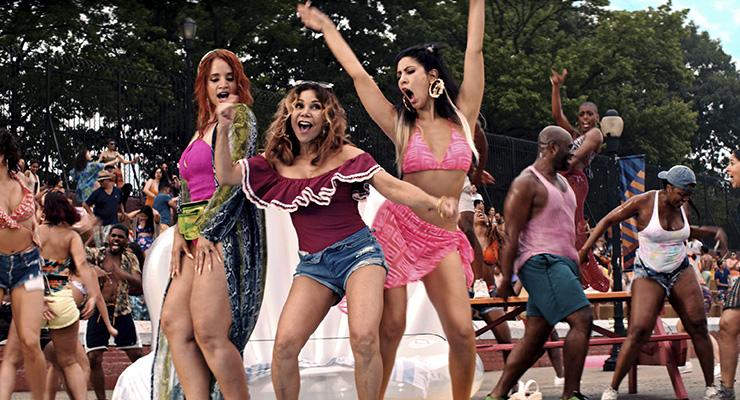 Dascha Polanco as Cuca, Daphne Rubin-Vega as Daniela and Stephanie Beatriz as Carla in a scene from