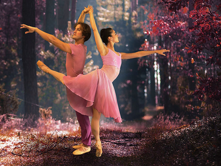 """Claudia Lezcano and Maikel Hernandez portraying """"Spring"""" from the new ballet"""