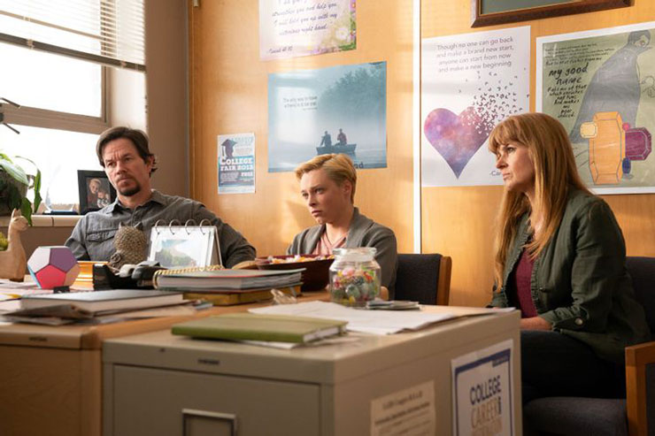 Mark Wahlberg, Reid Miller and Connie Britton. Photo: Roadside Attractions.