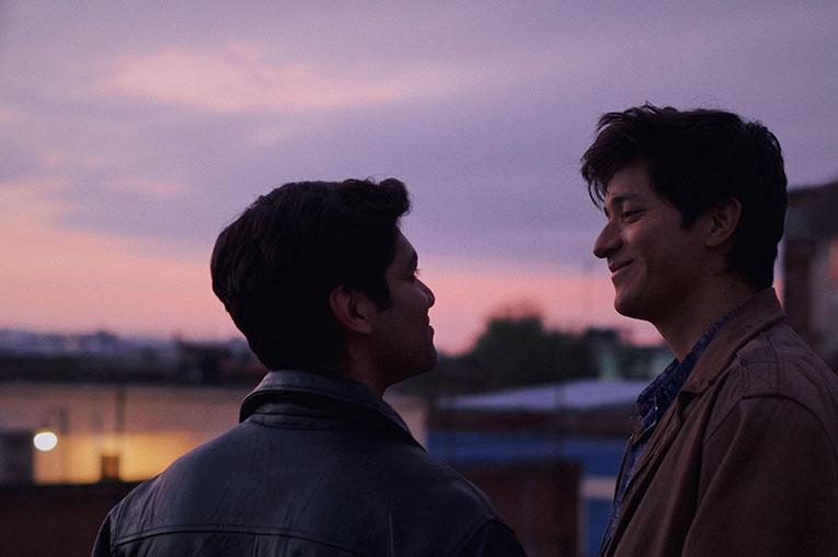Christian Vázquez as Gerardo and Armando Espitia as Iván in a scene from