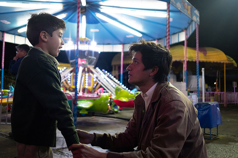 Jose Angel Garrido as Young Ricky and Armando Espitia as Iván in a scene from