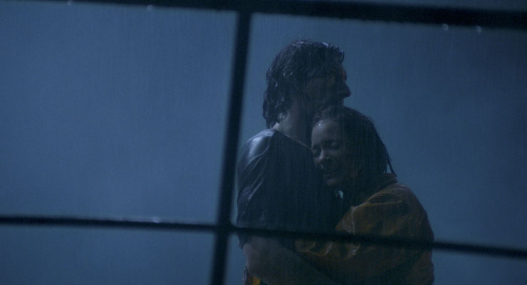 Adam Driver and Marion Cotillard in a scene from