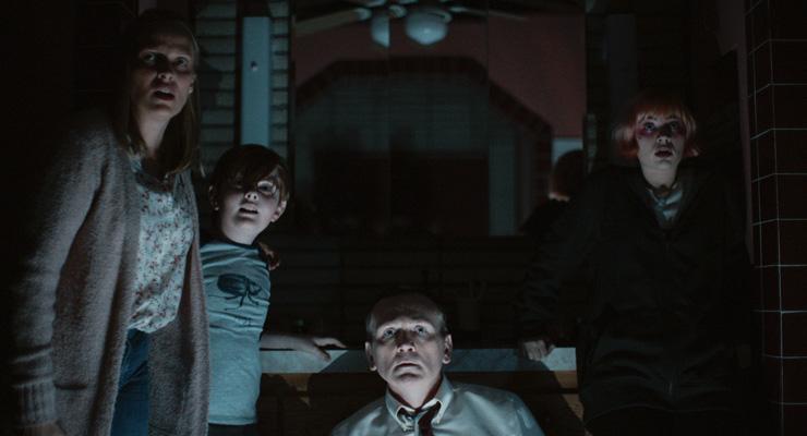Vinessa Shaw, John James Cronin, Pat Healy and Sierra McCormick in a scene from Sean King O'Grady's