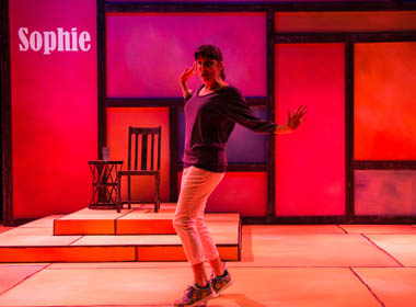 Michael McKeever designed the set for the Actors' Playhouse production of ¡Fuácata! or A Latina's Guide to Surviving the Universe' (photo by Justin Namon)