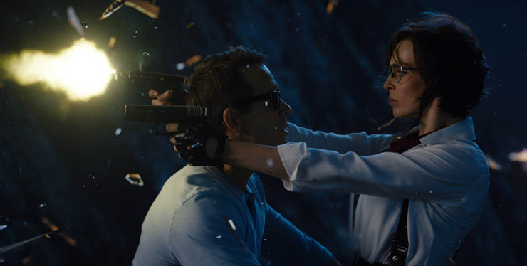 Ryan Reynolds and Jodie Comer in a scene from