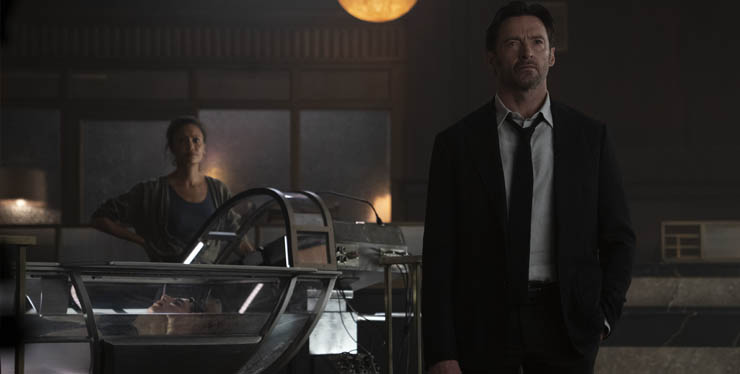 Thandiwe Newton and Hugh Jackman in a scene from