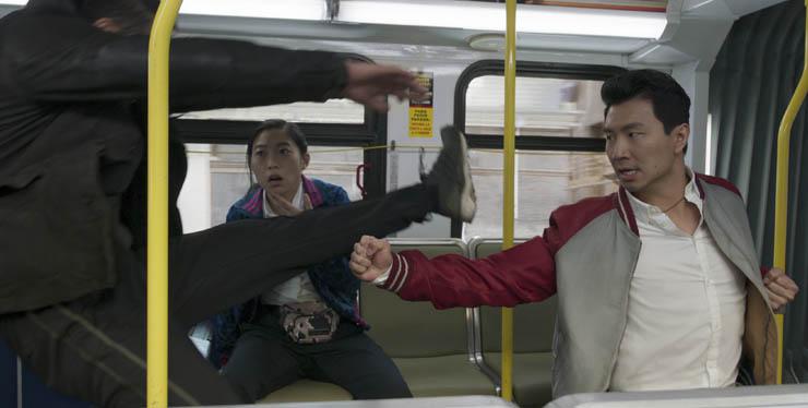Awkwafina and Simu Liu in a scene from