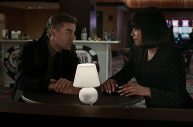 Oscar Isaac and Tiffany Haddish in a scene from
