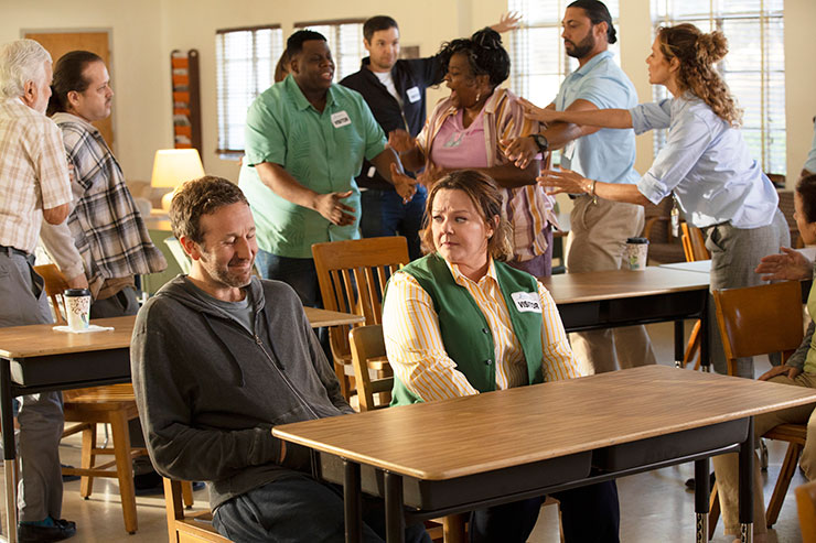Chris O'Dowd and Melissa McCarthy in a scene from