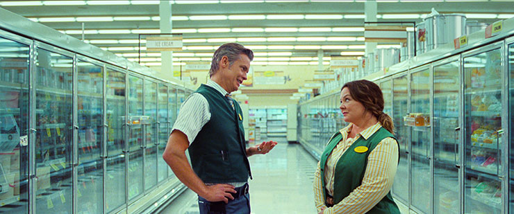 Timothy Olyphant and Melissa McCarthy in a scene from