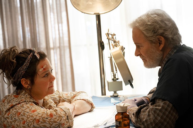 Melissa McCarthy and Kevin Kline in a scene from
