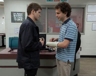 Colton Ryan and Ben Platt in a scene from