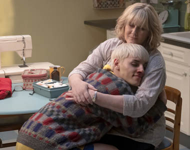 Max Harwood and Sarah Lancashire in a scene from
