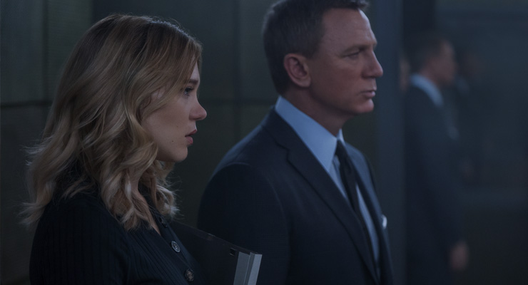 Léa Seydoux and Daniel Craig in a scene from